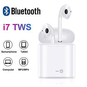 cheap On-ear & Over-ear Headphones-i7s TWS Bluetooth Earphone Stereo Earbud Bluetooth Headset with Charging Pod Wireless Headsets for All Smart Phone