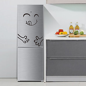 cheap Wall Stickers-3D Wall Stickers Plane Wall Stickers Fridge Stickers, Special Material Home Decoration Wall Decal Fridge Decoration 1pc / Removable