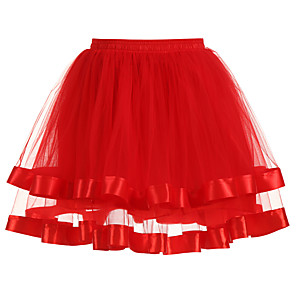 cheap Wedding Wraps-Wedding / Wedding Party Slips Polyester / Tulle Short-Length Solid Color / Tutus & Skirts with