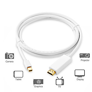 cheap DisplayPort Cables & Adapters-Mini DisplayPort Adapter Cable / Connect Cable, Mini DisplayPort to HDMI 1.4 Adapter Cable / Connect Cable Male - Male 1.8m(6Ft)
