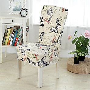 cheap Chair Cover-Slipcovers Chair Cover Yarn Dyed Polyester/ Stylish Butterfly/Floral Pattern/ Highly Stretchy/ Easy to Install