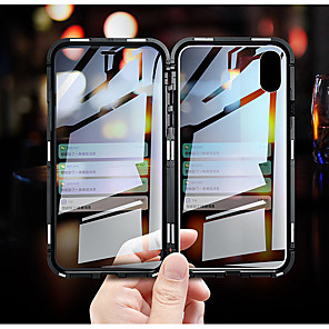 cheap iPhone Cases-Luxury Double sided glass Metal Magnetic Case for iPhone XS MAX iPhone XR X 7 8 Plus Phone Case Magnet Cover 360 Full Protection