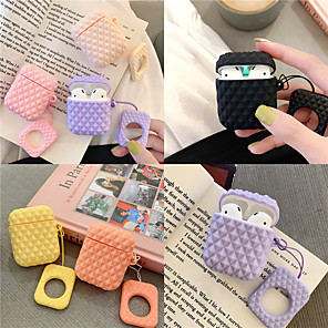 cheap Wireless Chargers-AirPods Case Silicone Soft Solid Color Lovely Pattern  Portable For AirPods1 AirPods2 (AirPods Charging Case Not Included)
