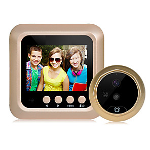 cheap Video Door Phone Systems-2.4 inch digital intelligent electronic visual cat's eye doorbell support video camera night vision large viewing angle