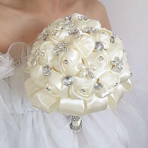 cheap Wedding Flowers-Wedding Flowers Bouquets Wedding / Wedding Party Silk 21-30 cm