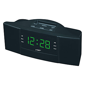 cheap Radio-Exquisite Dual Band Alarm Sleep Clock AM/FM Radio with LED Display European Plug