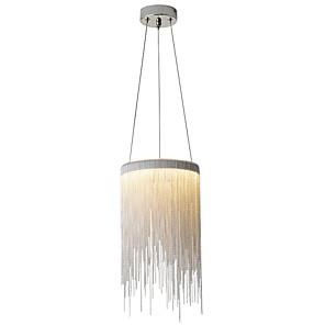 povoljno Otok Svjetla-led12w aluminijski tok luster / kićanka vodio privjesak svjetlo za blagovaonicu shop soba caffe bar / toplo bijelo / bijelo \ t