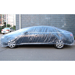 cheap Car Organizers-Disposable Car Cover Waterproof Transparent Plastic Dustproof Cover Car Rain Covers