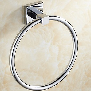 cheap Toothbrush Holder-Toothbrush Holder Creative Modern Metal 1pc - Bathroom towel ring Wall Mounted
