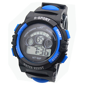 cheap Sport Watches-Boys' Sport Watch Quartz Sporty Silicone Black Calendar / date / day Noctilucent Digital Fashion - Yellow Red Blue One Year Battery Life