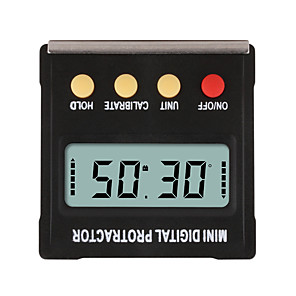 cheap Level Measuring Instruments-360 Degree Mini Digital Protractor Inclinometer Electronic Level Box Magnetic Base Measuring Tools