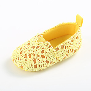 cheap Kids' Flats-Girls' First Walkers / Children's Day Knit Flats Infants(0-9m) / Toddler(9m-4ys) White / Black / Yellow Spring / Summer