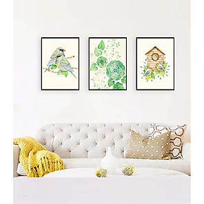 cheap Framed Arts-Framed Art Print Framed Set - Animals Floral / Botanical PS Illustration Wall Art