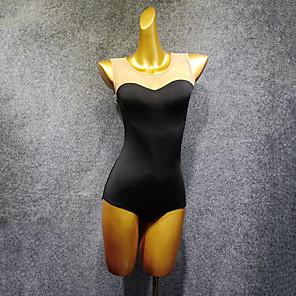 cheap Latin Dancewear-Latin Dance Leotard / Onesie Ruching Split Joint Women's Performance Sleeveless Milk Fiber