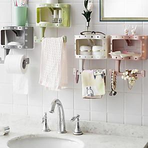 cheap Bathroom Gadgets-Fashion Holder Roll Paper Tissue Box Sucker Toilet Paper Bathroom Wall Mounted Color Random