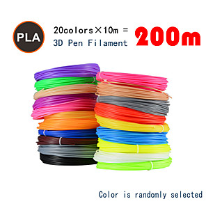 cheap Security Accessories-Myriwell PLA 1.75mm filament 20colors 10m Random color selected 3d printed pla 1.75mm 3d pen plastic 3d printer pla filament 3d pens pla Environmental Safety
