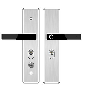 cheap Door Locks-T1 Stainless Steel Intelligent Lock Smart Home Security System Fingerprint unlocking / Mechanical key unlocking Home / Office Security Door / Wooden Door (Unlocking Mode Fingerprint / Mechanical key)