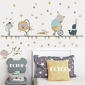 billige Veggklistremerker-kreativ diy fargepalm utskrift for barnas soverom barnehage stue og selvklebende tapet klistremerke dekorative vegg klistremerker - vegg vegg klistremerker former / stilleben barneværelse / barnehage