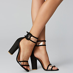 cheap Women's Sandals-Women's Sandals Wedge Sandals Block Heel Sandals Wedge Heels Summer Chunky Heel Comfort Casual PU Leopard / Black / Burgundy / EU39