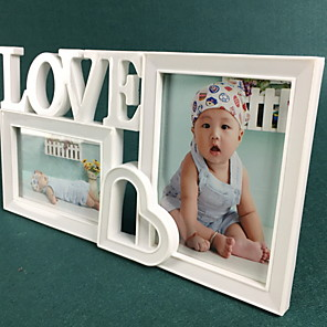cheap Tabletop Picture Frames-Modern Contemporary Polyresin Painted Finishes Picture Frames Wall Decorations, 2pcs Picture Frames