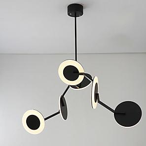 cheap Pendant Lights-Austen Ding 6-Light 60 cm Mini Style / Creative Chandelier Metal Circle / Mini Painted Finishes Modern 110-120V / 220-240V