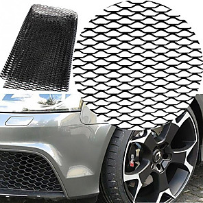 cheap Car Body Decoration & Protection-Car Silver/Black Aluminum Alloy Front Bumper Seagulls Shape Air Inlet Grill Mesh Sheet (8x25mm)