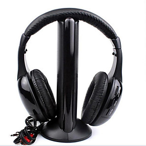 cheap Gaming Headsets-LITBest Wireless Headphones RF High-Fidelity with Monitoring+FM Radio for PC TV Net Chat MH2001 5-in-1 Hi-Fi S-XBS Wireless Headphone