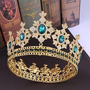 cheap Hair Jewelry-Rhinestone / Alloy Tiaras with Crystal / Rhinestone 1 Piece Wedding Headpiece