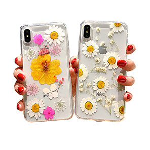 cheap iPhone Cases-Case For Apple iPhone XS Max / iPhone 8 Plus Shockproof / Dustproof Back Cover Flower Soft Silica Gel for iPhone 7 / 7 Plus / 8 / 6 /6 Plus / XR / X / XS