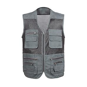cheap Softshell, Fleece & Hiking Jackets-Men's Vest / Gilet Windproof Breathability Heat Retaining Fishing Daily Wear / Cotton