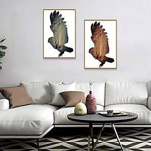 cheap Framed Arts-Framed Art Print Framed Set - Landscape Animals PS Illustration Wall Art