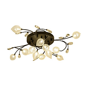 cheap Dimmable Ceiling Lights-12 Bulbs ZHISHU 80 cm Crystal Creative Flush Mount Lights Metal Glass Cluster Empire Bowl Electroplated Artistic Chic & Modern 110-120V 220-240V G4