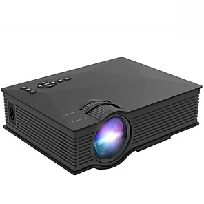 cheap Projectors-UC68 2000 Lumens Projector UC46 Upgrade Video Projector 800x480 WIFI Support Miracast LED Proyector Home Cinema