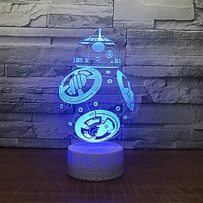 cheap 3D Night Lights-3D Nightlight Creative Birthday with USB Port USB 1pc