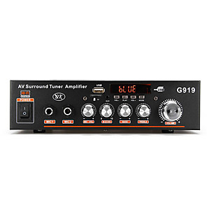 cheap Car Audio-12V/220V 360W High fidelity digital power amplifier supporting MP3 format built-in Bluetooth pluggable U disk TF card FM radio with infrared remote control
