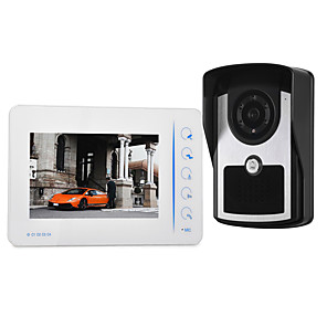 cheap Video Door Phone Systems-7 inch wired touch button video doorbell HD villa video intercom outdoor unit night vision rain unlock function
