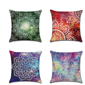 cheap Throw Pillow Covers-Set of 1 Linen Pillow Cover, Color Block Contemporary Classic Fashion Throw Pillow