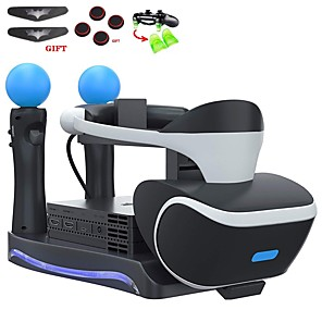 cheap CCTV Cameras-Charger Kits PSVR Controller Charger Bracket Second Generation PS4 VR 4 in 1 Multi-function Game Controller Charger Base Headset Charging Seat
