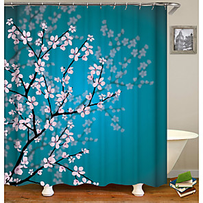 cheap Shower Curtains-Shower Curtains Country Polyester Machine Made Waterproof Bathroom