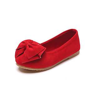 cheap Kids' Flats-Girls' Comfort / Flower Girl Shoes / Children's Day Faux Leather Flats Little Kids(4-7ys) / Big Kids(7years +) Bowknot Red Spring / Fall / Party & Evening / TR