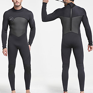 cheap Wetsuits, Diving Suits & Rash Guard Shirts-SBART Men's Full Wetsuit 5mm SCR Neoprene Diving Suit Thermal / Warm Anatomic Design Stretchy Long Sleeve Back Zip - Swimming Diving Watersports Autumn / Fall Spring Summer / Winter / Micro-elastic