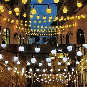 cheap LED String Lights-LOENDE 7m String Lights 50 LEDs Dip Led Warm White RGB White Waterproof Party Decorative Solar Powered
