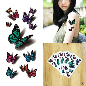 cheap Tattoo Stickers-5 pcs Temporary Tattoos Water Resistant / Best Quality Shoulder / Chest Tattoo Stickers