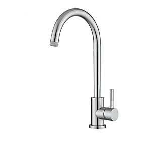 cheap Kitchen Faucets-Kitchen faucet - Single Handle One Hole Multi-Ply Tall / ­High Arc Free Standing Contemporary Kitchen Taps