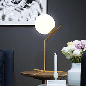 cheap Table Lamps-Table Lamp Decorative Simple / Nordic Style For Bedroom / Shops / Cafes Metal 220V Black / Gold