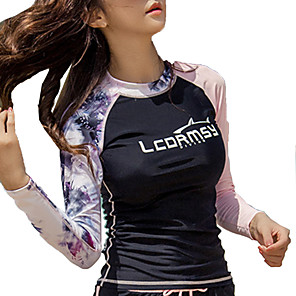 cheap Wetsuits, Diving Suits & Rash Guard Shirts-LCDRMSY Women's Rash Guard Swimwear UV Sun Protection Quick Dry Long Sleeve Swimming Diving Surfing Painting Summer / Micro-elastic