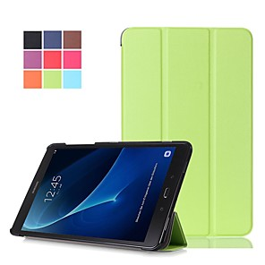 cheap Other Phone Case-Case For Samsung Galaxy Tab A 10.1 (2016) Shockproof / Dustproof / Auto Sleep / Wake Up Full Body Cases Solid Colored Hard PU Leather