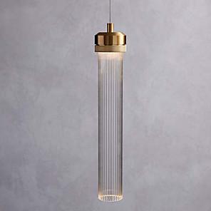 povoljno Otok Svjetla-jednostruki privjesak svjetiljka minimalistički privjesak svjetlo staklo sjenilo cilindar privjesak rasvjeta ambijentalno svjetlo galvanski brušenog metala novi dizajn vodio toplo bijelo