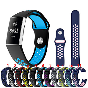 cheap Smartwatch Bands-Watch Band for Fitbit Charge 3 Fitbit Sport Band Silicone Wrist Strap