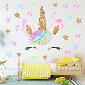 cheap Wall Stickers-Animals / Fairies Wall Stickers Plane Wall Stickers / Animal Wall Stickers Decorative Wall Stickers, PVC Home Decoration Wall Decal Wall Decoration 1pc / Removable